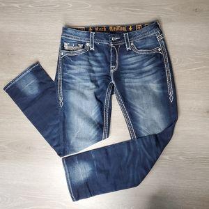 Rock Revival Avery Capri Jeans Size 28